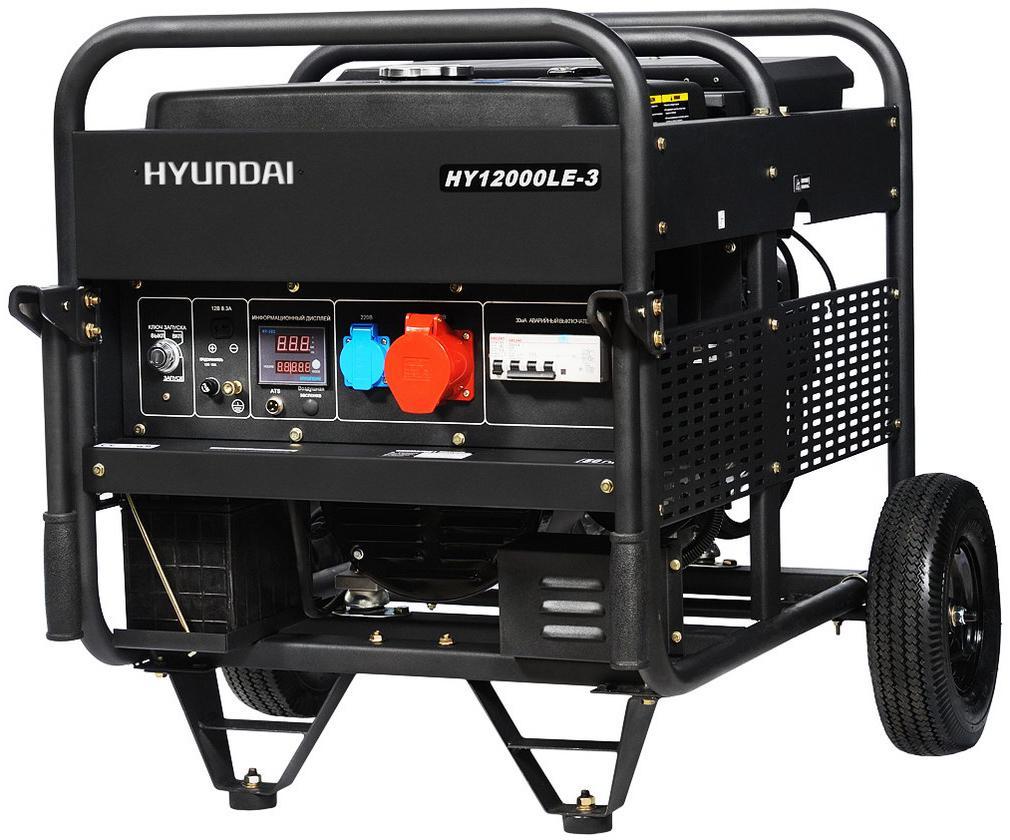 Бензиновый генератор Hyundai Hy 12000le-3 цена в Москве и Питере