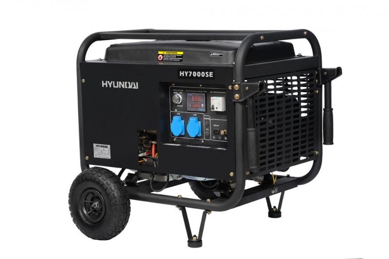 Бензиновый генератор Hyundai Hy 7000se hyundai matrix расход топлива