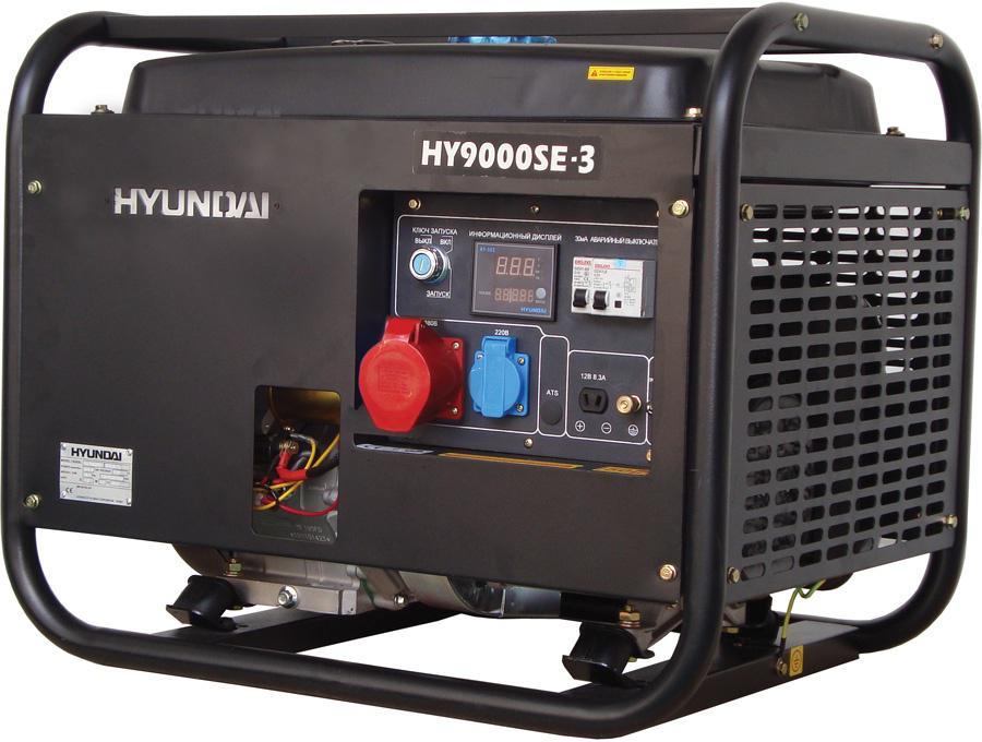 Бензиновый генератор Hyundai Hy 9000se-3 hyundai matrix расход топлива