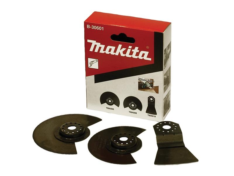 Набор насадок для МФИ Makita по напольным покрытиям, 3 предмета набор эм 3 предмета 11 йогурт 987943