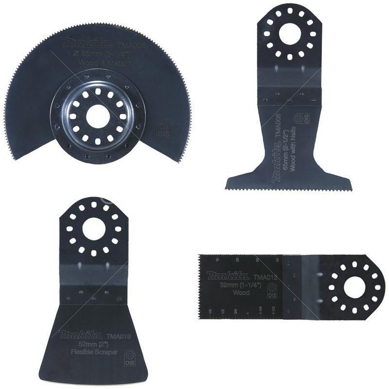 Набор насадок для МФИ Makita по напольным покрытиям, 4 предмета