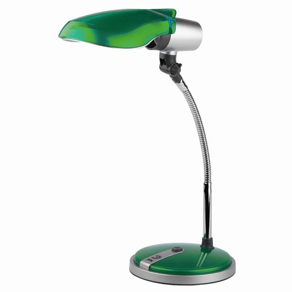Лампа настольная ЭРА Ne-301 зеленая эра ne 301 e27 15w s