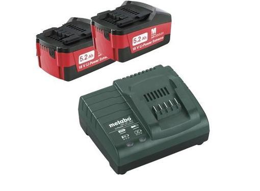 Набор аккумуляторов и ЗУ METABO 18В 5.2Ач Li-Ion (Basic Set 5.2 x2 685051000)