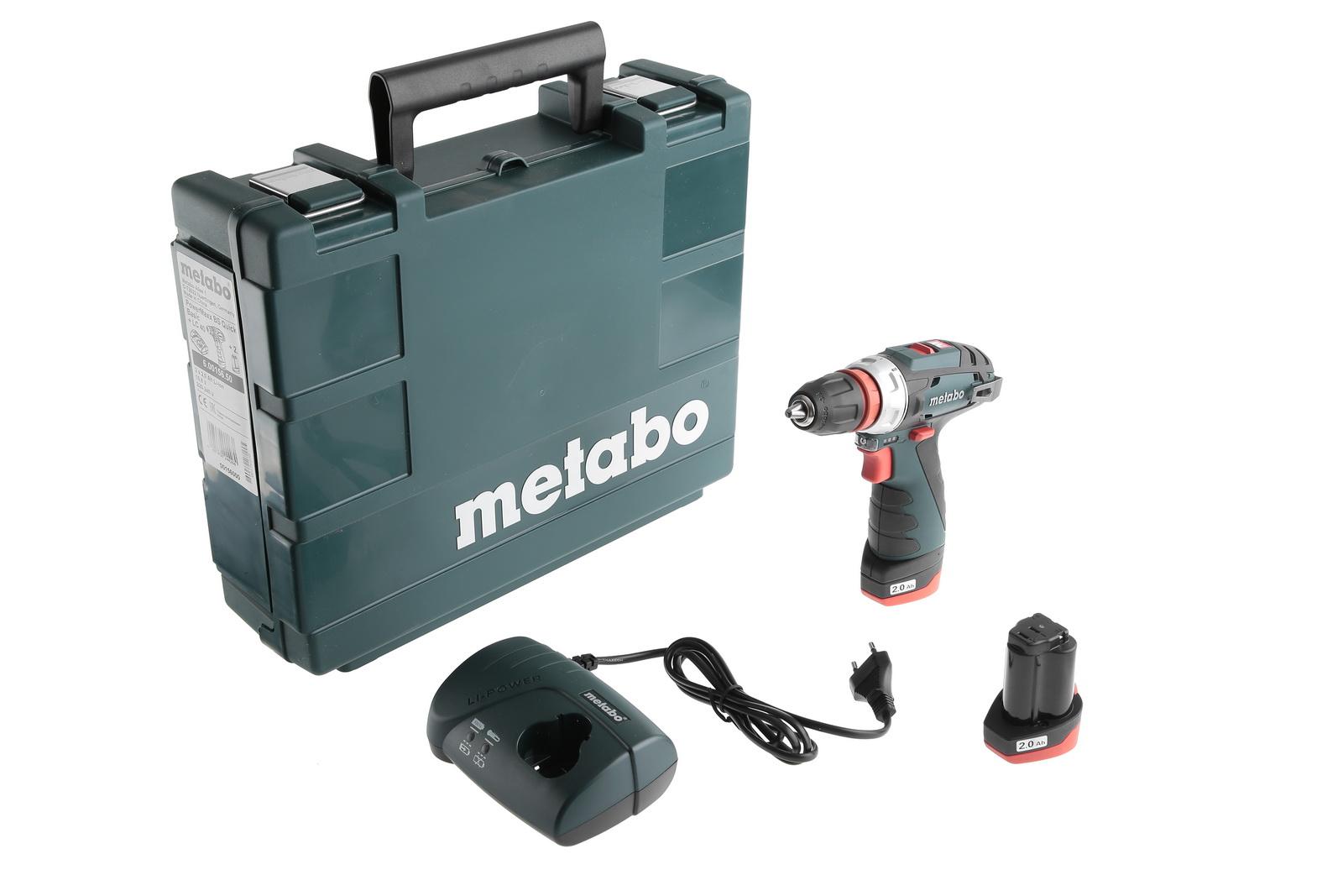 Аккумуляторная дрель-шуруповерт Metabo Powermaxx bs quick basic (600156500)