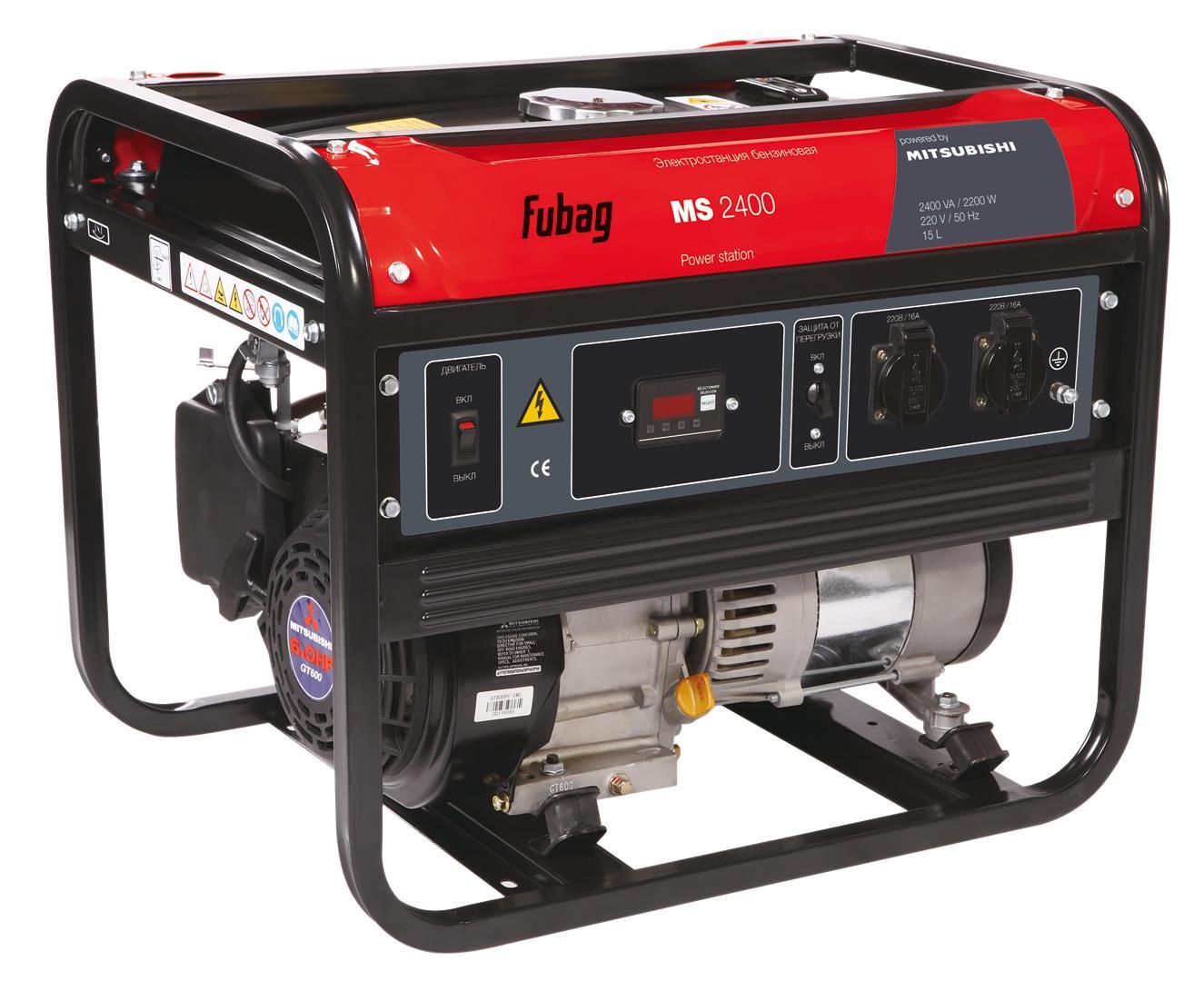Генератор бензиновый Fubag Ms2400 бензиновый генератор fubag ti 1000