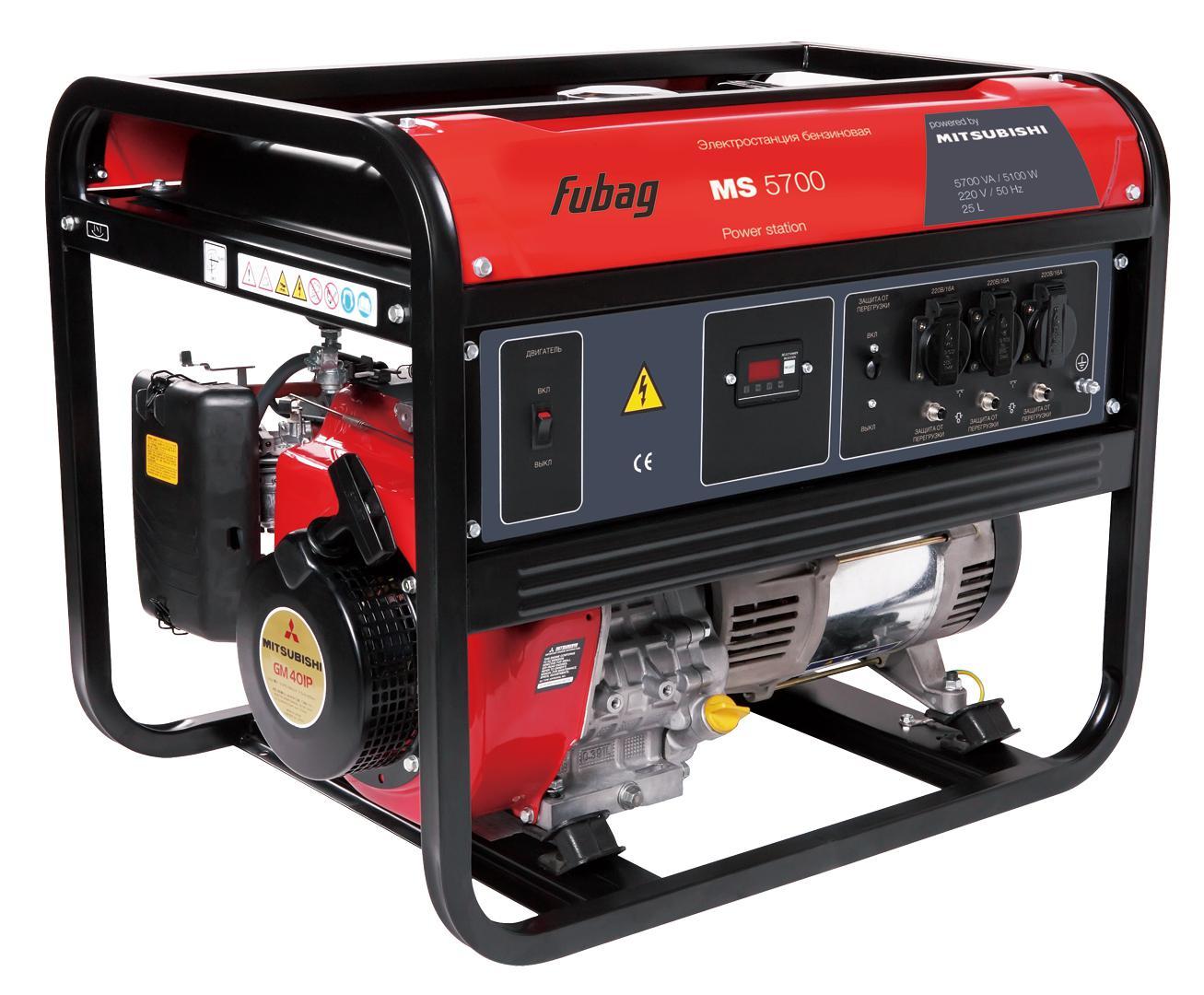 Бензиновый генератор Fubag Ms5700 бензиновый генератор fubag ti 1000