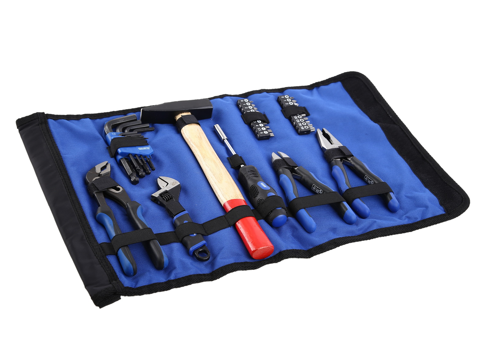 цена на Набор инструментов для электрика в сумке-рукаве с ремнем, 35 предметов Unipro U-770