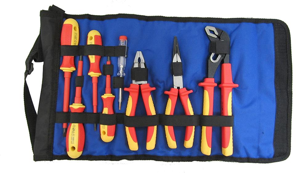 Набор диэлектрических инструментов в сумке-рукаве на ремне, 8 предметов Unipro U-901  набор инструмента unipro u 800 69 предметов