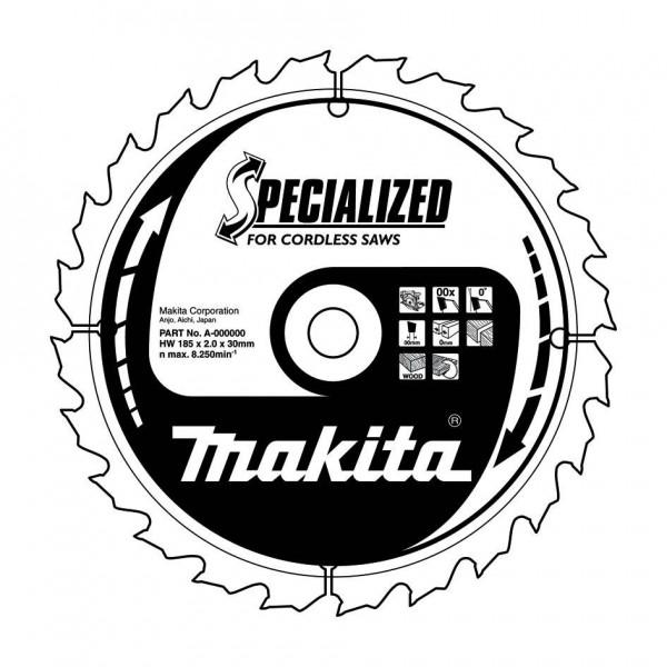 Диск пильный твердосплавный Makita B-31158 диск пильный по дереву 190х30 мм 24т makita b 29206