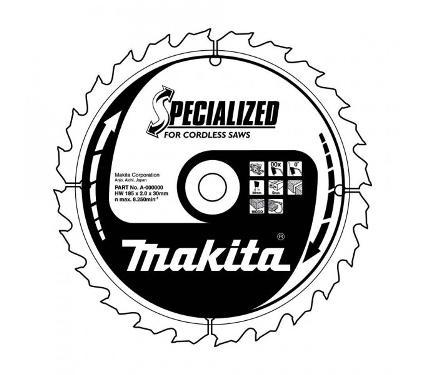 Диск пильный твердосплавный MAKITA Ф165х20мм 24зуб. (B-31158)