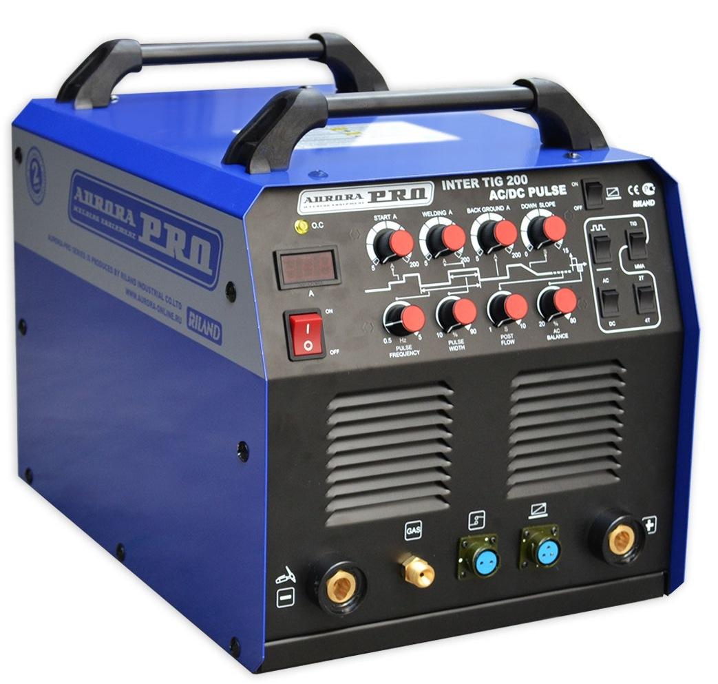 Сварочный аппарат Aurora pro Inter tig 200 ac/dc pulse mosfet сварочный аппарат сварог pro tig 200 p dsp w212