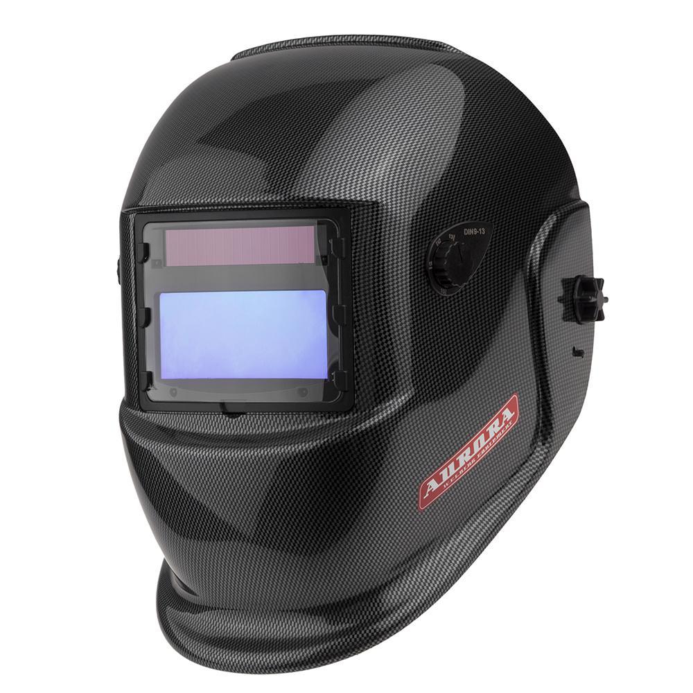 Маска сварщика хамелеон Aurora S777c (9-13din) carbon маска сварщика fubag ultima 5 13 panoramic red хамелеон