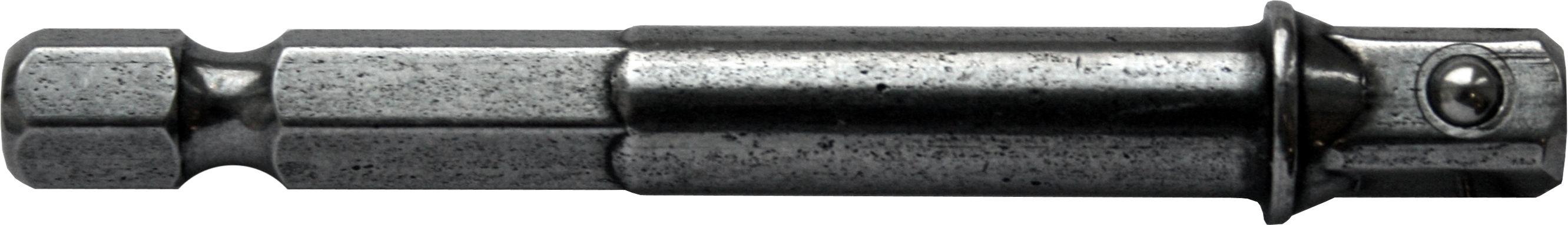 Держатель ПРАКТИКА 776-690 для головок, hex 1/4'' - квадрат 1/4'', 65мм ударный переходник hans 1 1 2х1 814804b