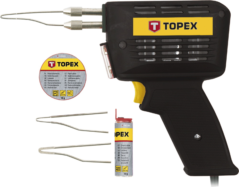 Паяльник импульсный Topex 44e005 электрический паяльник 150вт topex 44e030