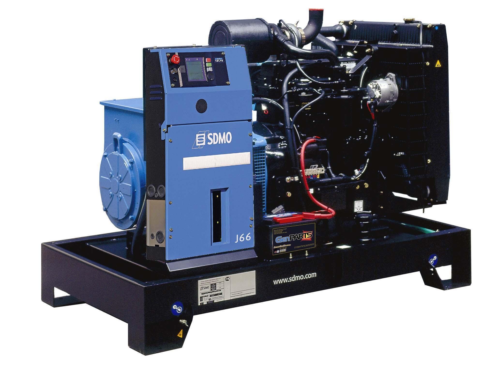 Дизельный генератор Sdmo J66k sdmo vx 220 7 5h s