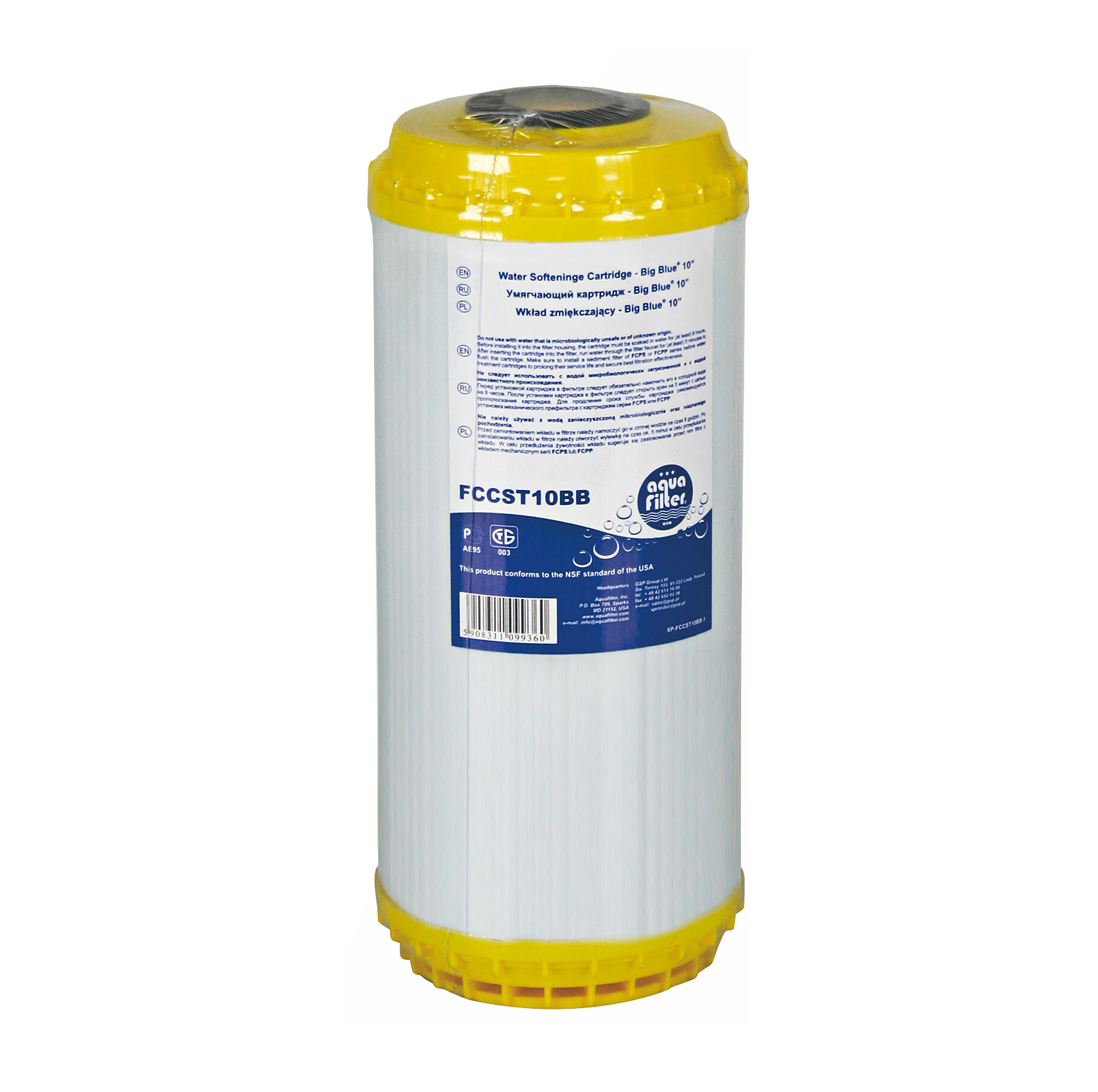 Картридж Aquafilter Fccst10bb aquafilter aqm картридж 10bb для умягчения воды fccst10bb