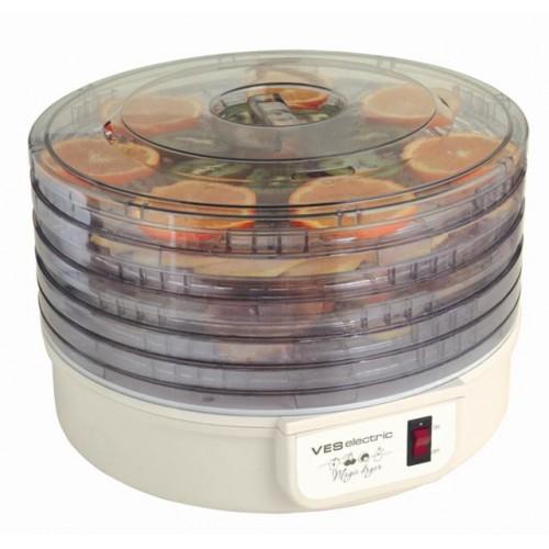 Сушилка для овощей VesСушилки для овощей<br>Тип: сушилка,<br>Мощность: 300,<br>Назначение: для сушки овощей, фруктов, грибов, трав,<br>Количество секций: 5<br>