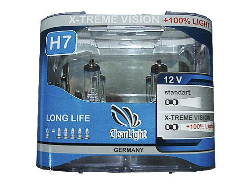 Автолампа CLEARLIGHT MLH7XTV120