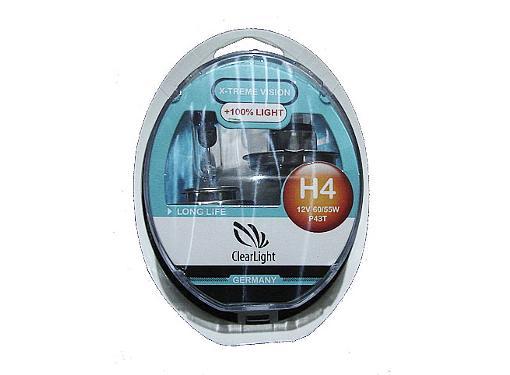 Автолампа CLEARLIGHT MLH4XTV120