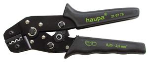 Фото - Пресс-клещи для обжима наконечников Haupa 210779 клещи для обжима телефонных наконечников archimedes norma