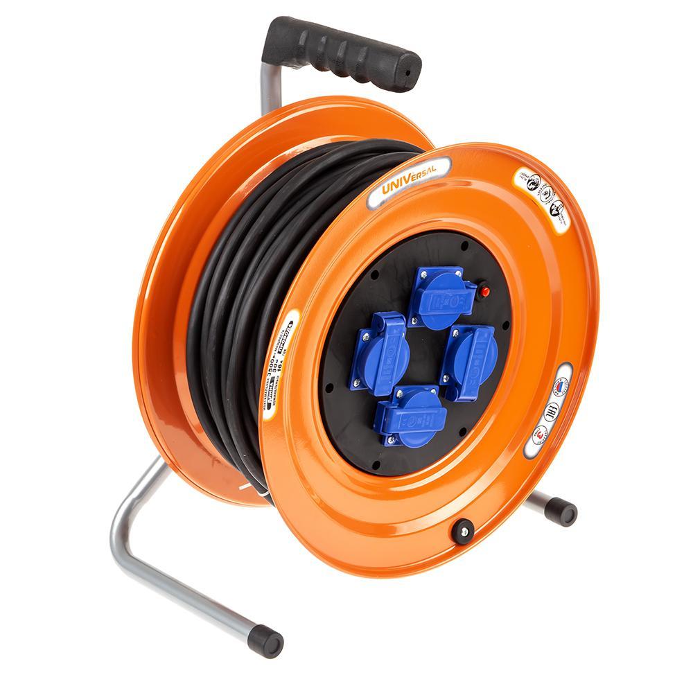 Удлинитель Universal У16-046 ip-44 термо КГ 3*2,5 4гнезда 30м кабель hdmi dvi 1 8м gembird single link черный позол разъемы экран пакет cc hdmi dvi 6