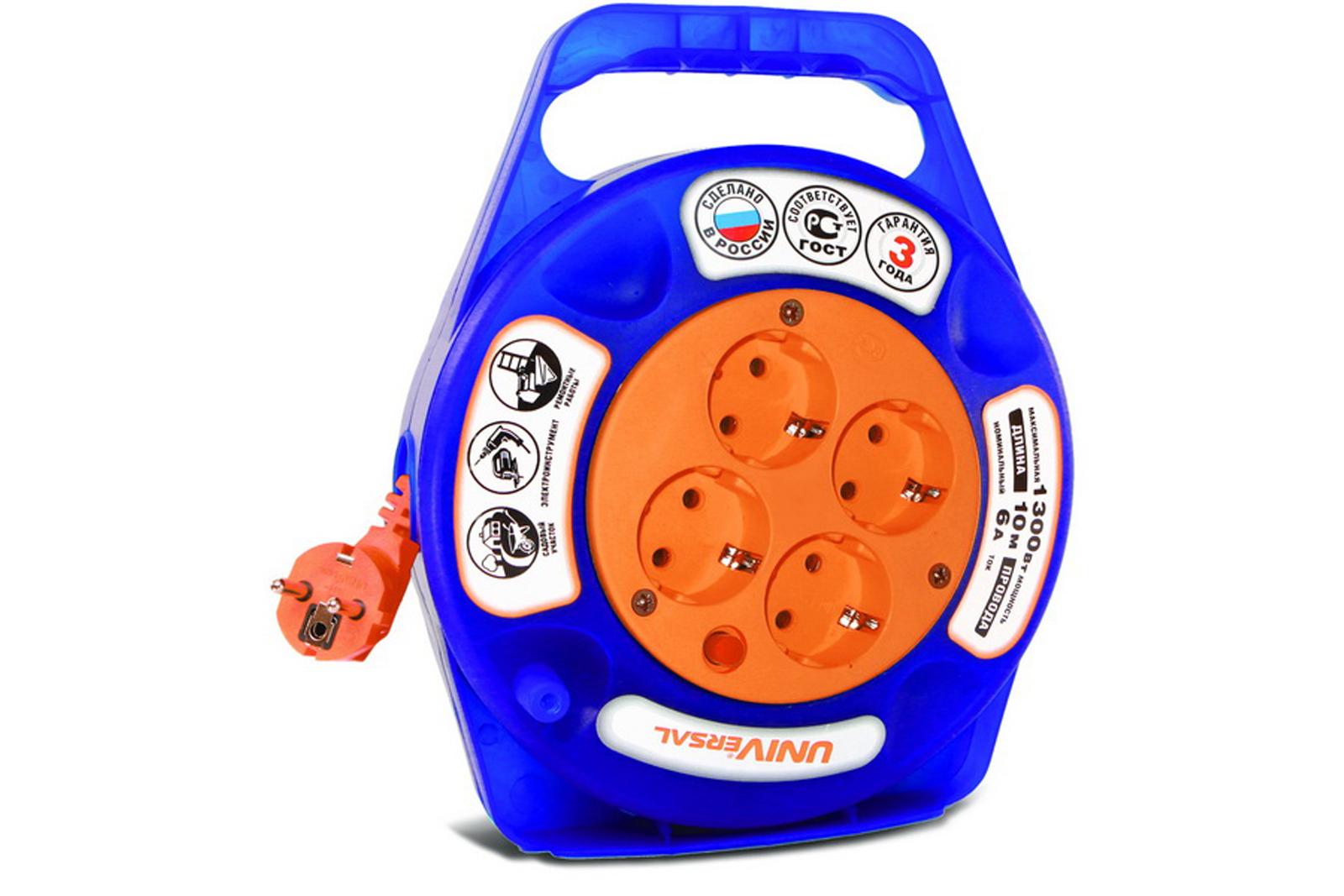 Удлинитель Universal У10-015 термо ПВС 3*0,75 10м