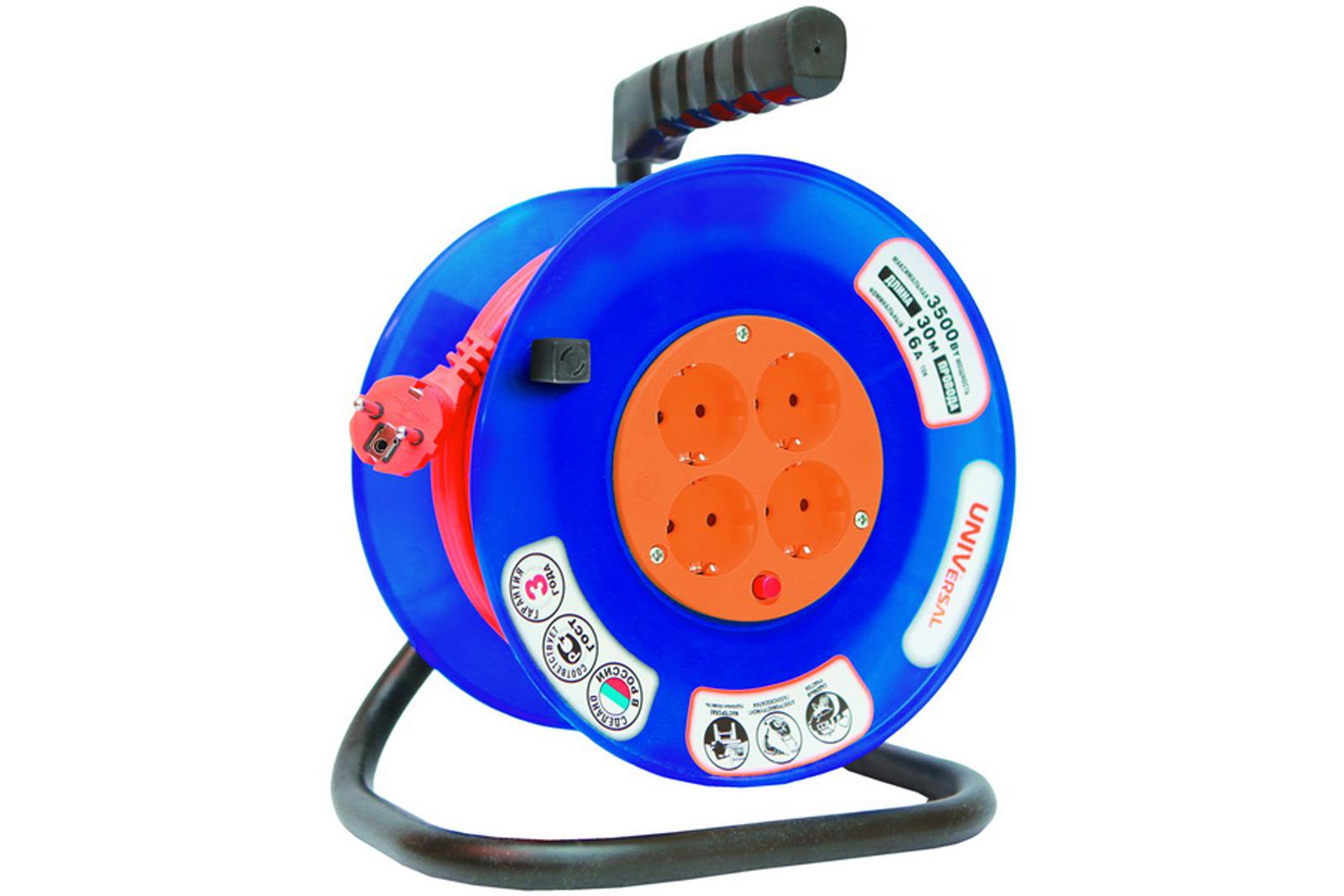 Удлинитель Universal ВЕМ-250 термо ПВС 3*0,75 4гнезда 30м силовой удлинитель universal вем 250 термо пвс 3 0 75 20м 9634151