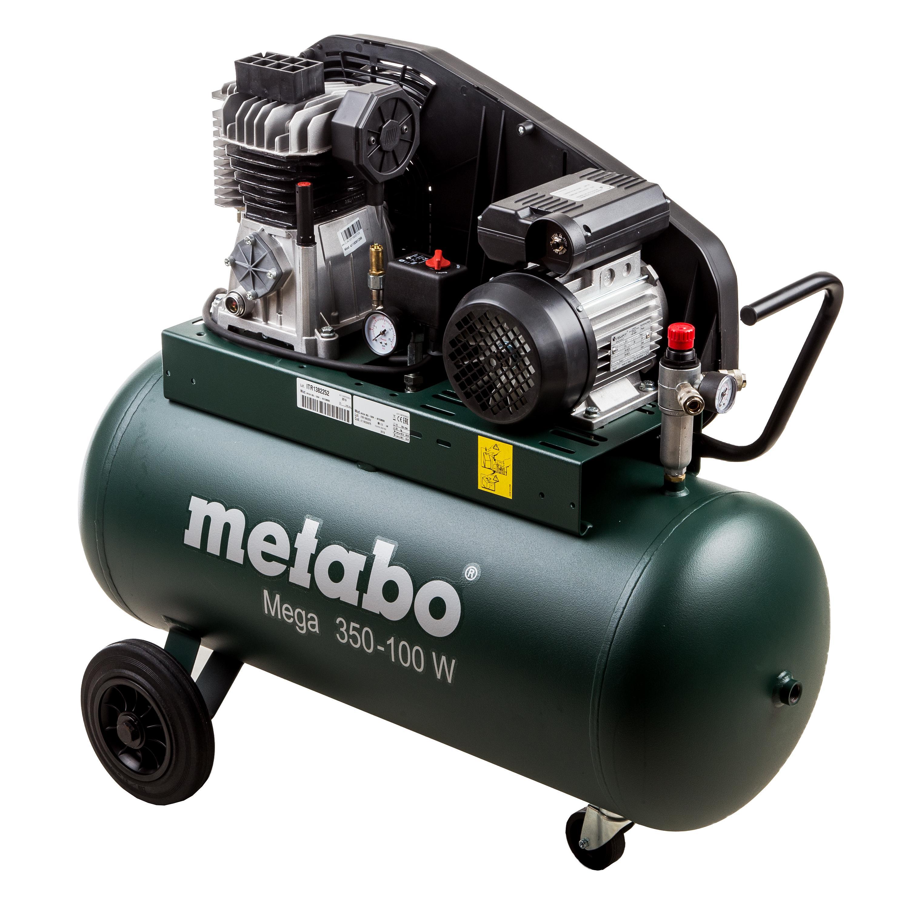 Компрессор поршневой Metabo Mega 350-100 w (601538000) цена и фото