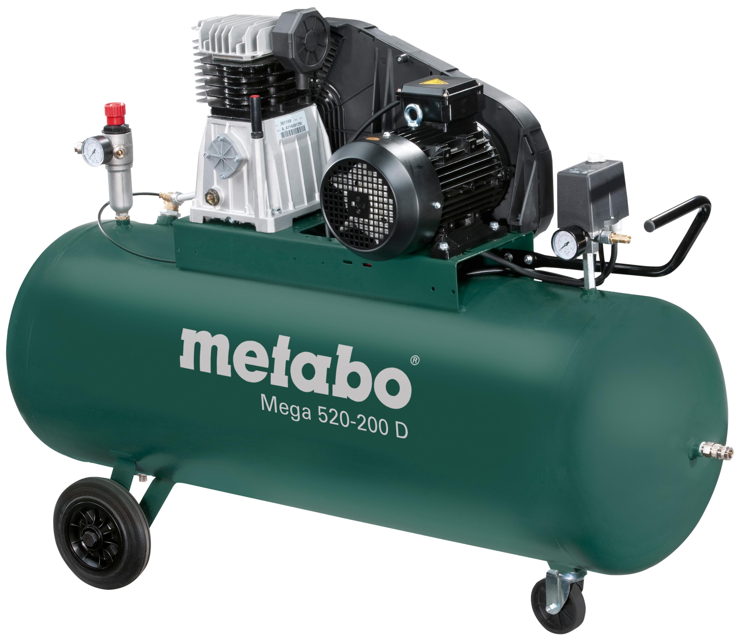 Компрессор поршневой Metabo Mega 520-200 d (601541000) компрессор ременной metabo mega 580 200 d