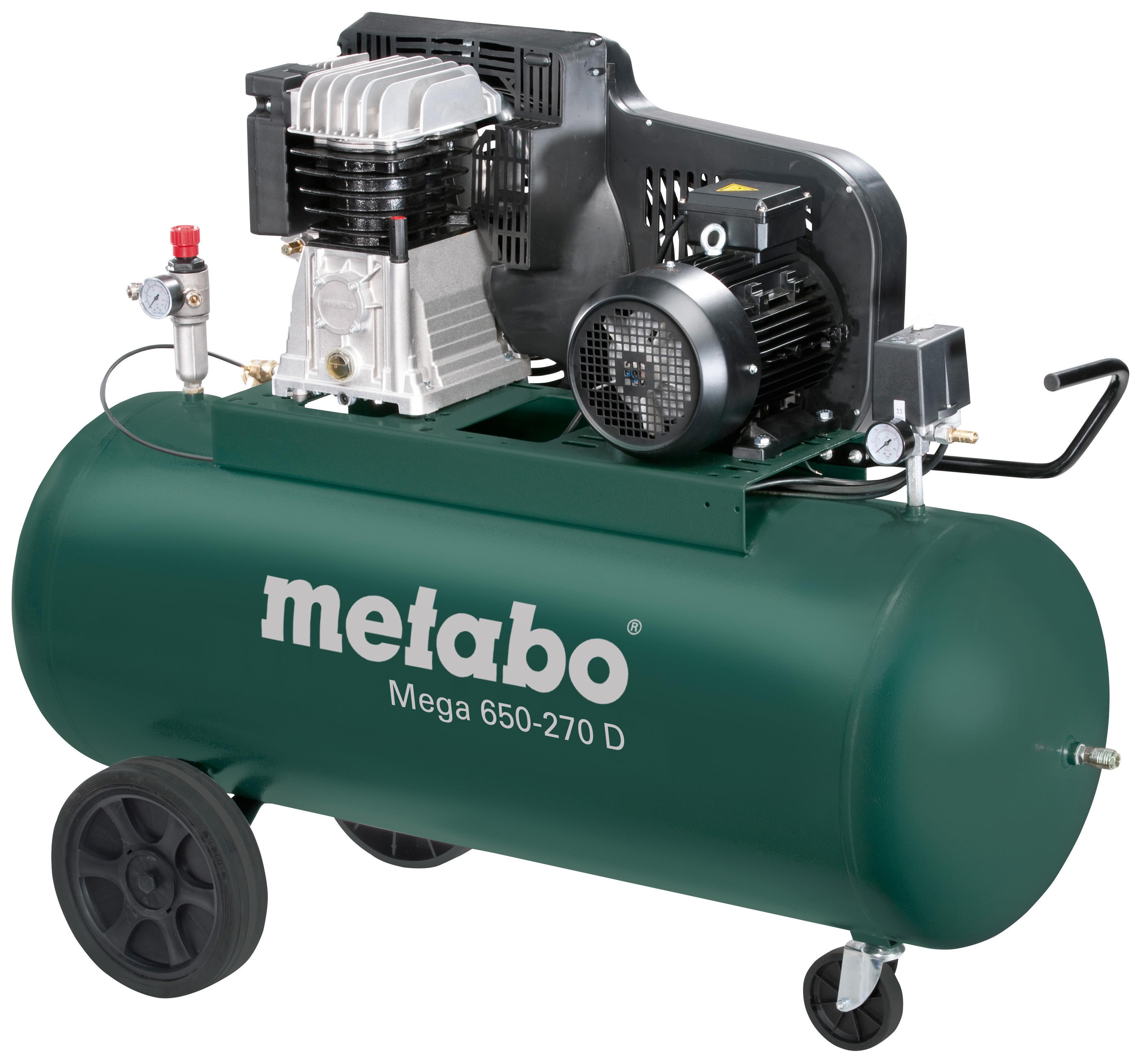 Компрессор поршневой Metabo Mega 650-270 d (601543000) компрессор ременной metabo mega 580 200 d