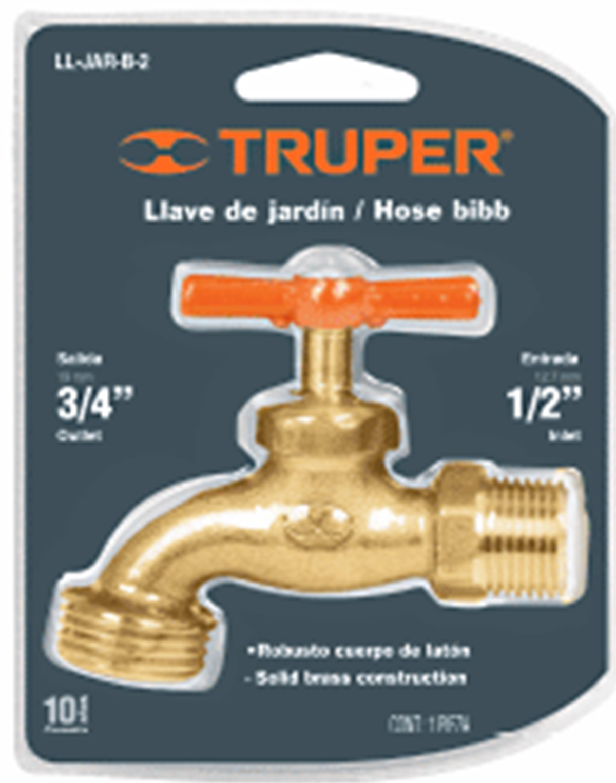 Кран Truper Ll-jar-b-2 13147 вилы садовые truper 4 зуба 104 см