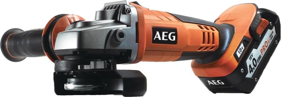 УШМ (болгарка) Aeg Bews 18-125 x li-402c аккумуляторная набор дрелей шуруповертов aeg jp2b 18li 18в li ion 1акб