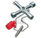 Ключ для электрошкафов с битой и переходником KNIPEX KN-001103 (3 / 9 мм)