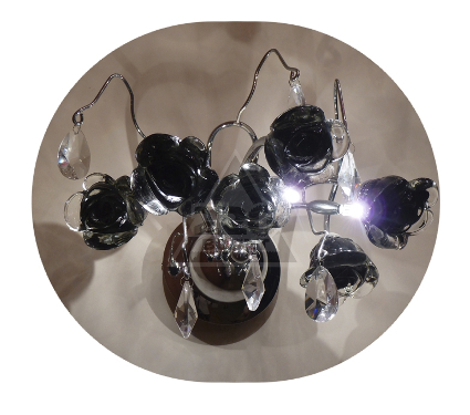 Бра LAMPLANDIA 2878/3 Rose belle black