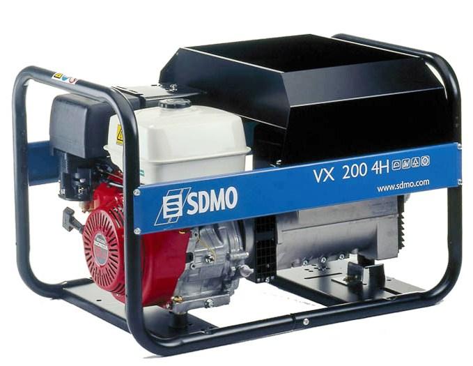 Бензиновый сварочный генератор Sdmo Vx 200/4 hs sdmo weldarc 200