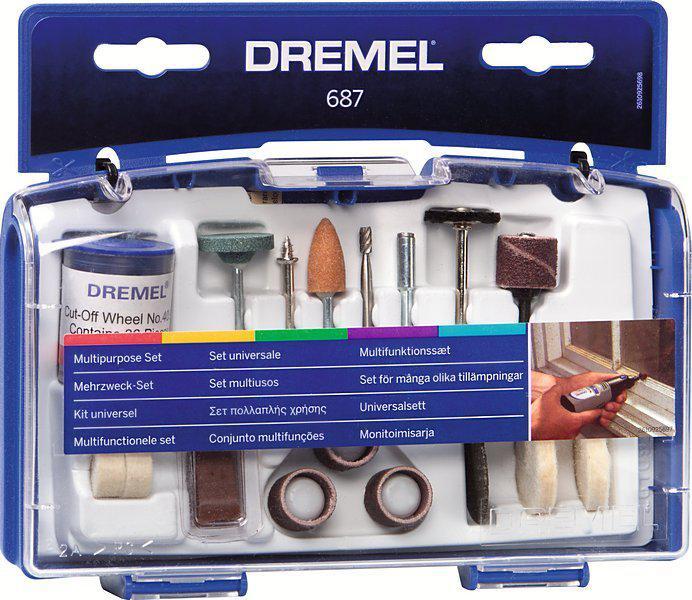 Набор насадок для дрели Dremel 687 набор для домашнего декора dremel f013g290jd