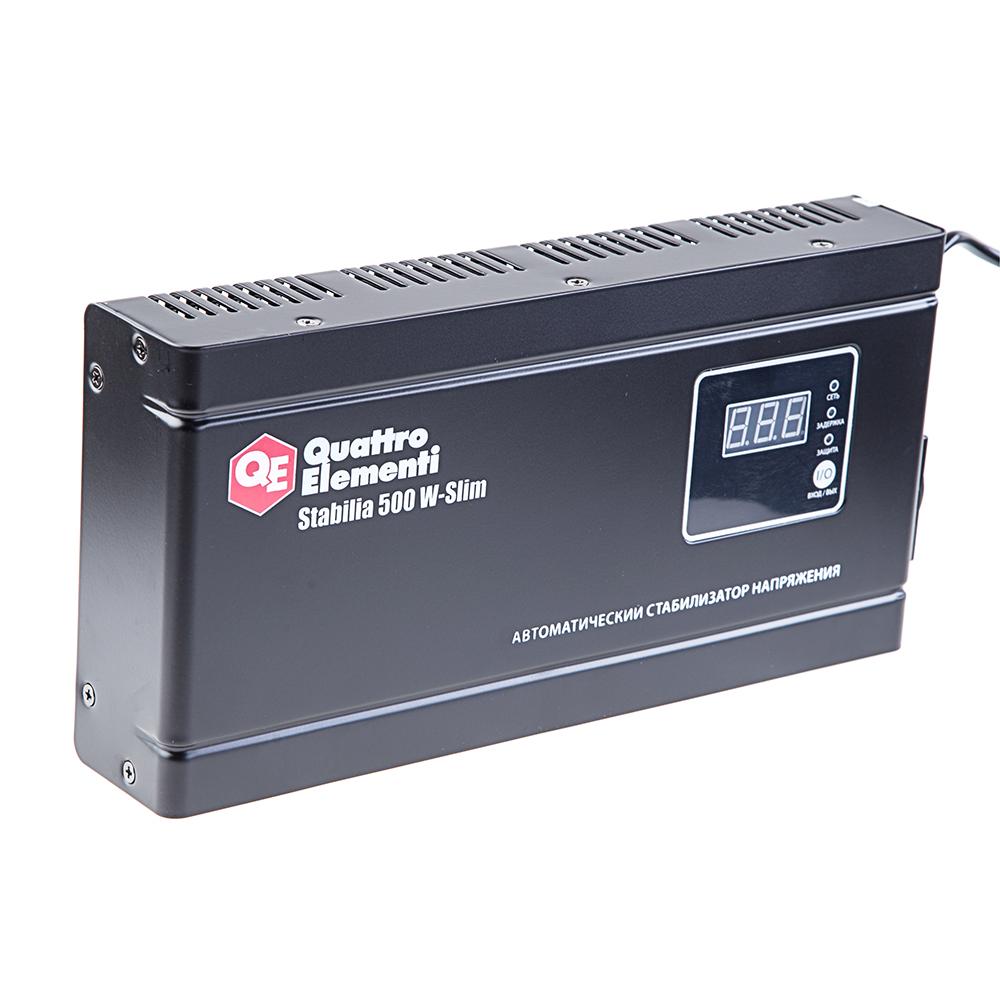 цена на Стабилизатор напряжения Quattro elementi Stabilia 500 w-slim