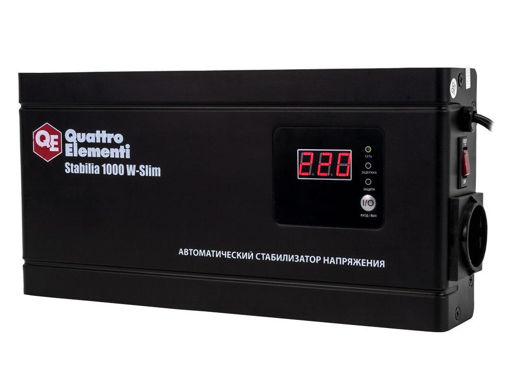 цена на Стабилизатор напряжения Quattro elementi Stabilia 1000 w-slim