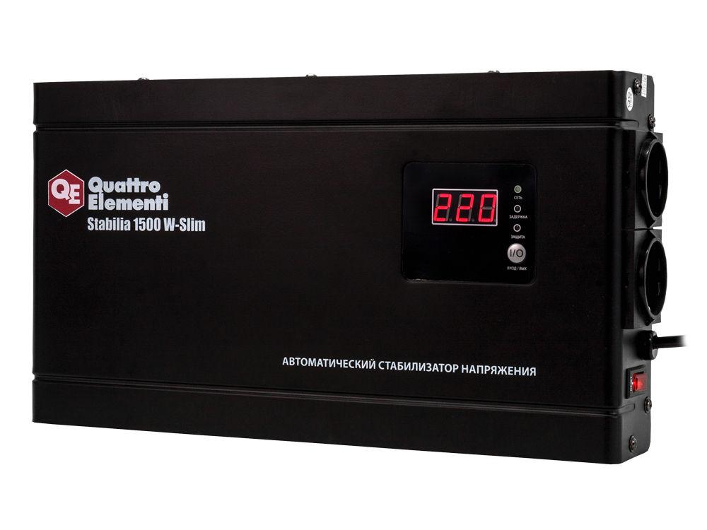 Стабилизатор напряжения Quattro elementi Stabilia 1500 w-slim стабилизатор напряжения quattro elementi stabilia 5000
