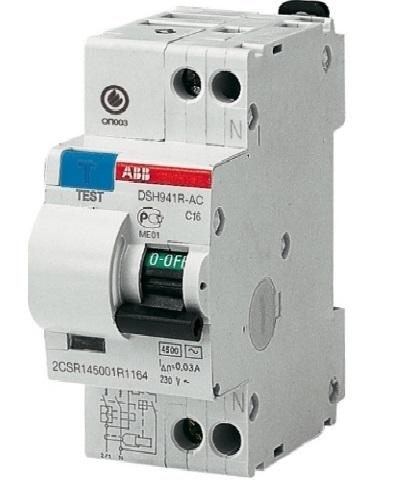 Диф. автомат Abb Dsh941r c16 дифференциальный автомат 1p n 25а тип c 30 ма 4 5 ka abb dsh941r