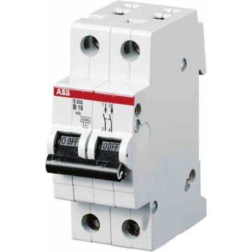 Автомат Abb S202 c16 автомат 3p 63а тип с 6 ka abb s203