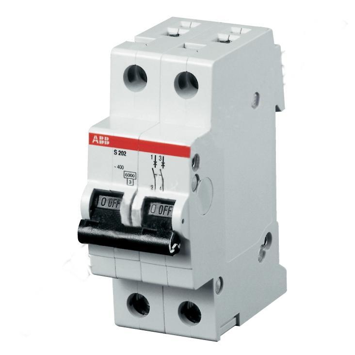 Автомат Abb S202 c20 дифференциальный автомат 1p n 25а тип c 30 ма 4 5 ka abb dsh941r