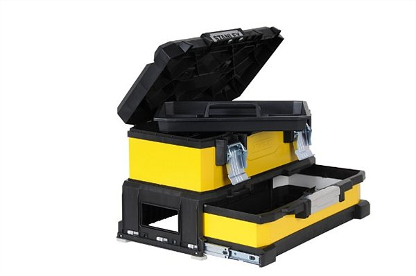 Ящик для инструментов Stanley Yellow metal plastic toolbox 1-95-829 stanley basic toolbox 1 79 218