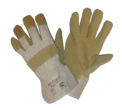 Комбинированные спилковые перчатки NO NAME Ангара люкс