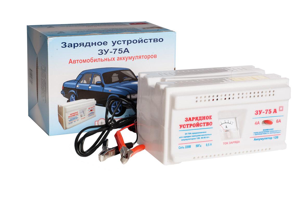 Зарядное устройство ЗУ 75А аккумулятор для легкового автомобиля giver 6ст 90 90ач об