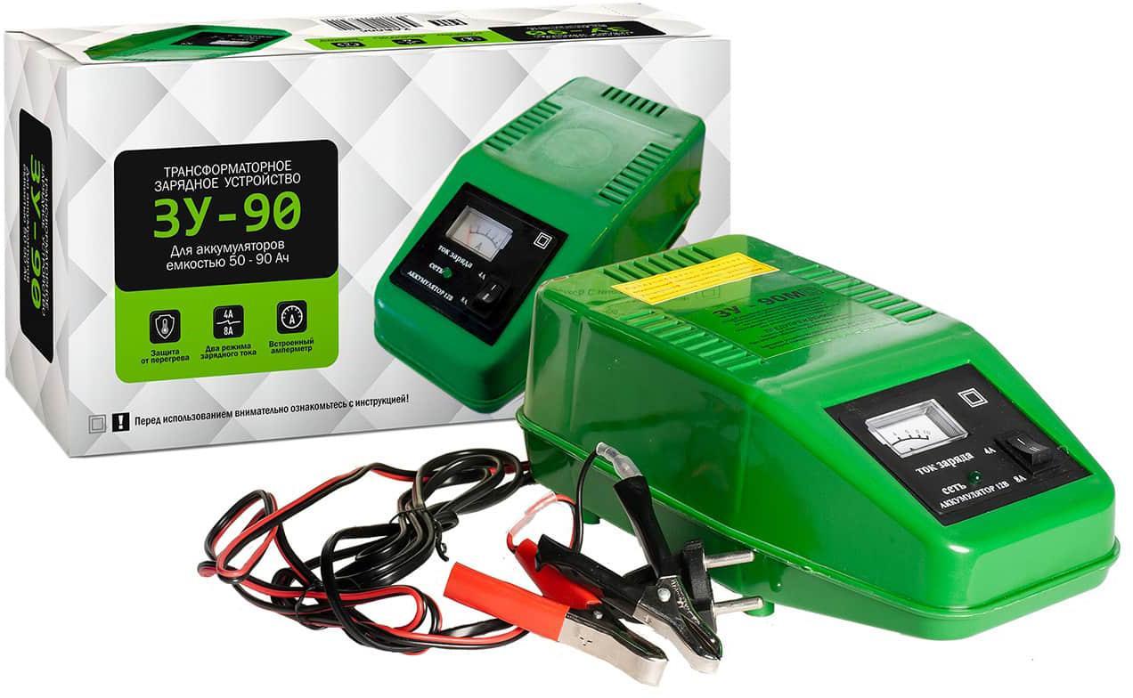 Зарядное устройство ЗУ 90 аккумулятор для легкового автомобиля giver 6ст 90 90ач об