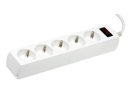 Сетевой фильтр DEFENDER ПВС 3x1.0 5 гнезд 5 м белый ES