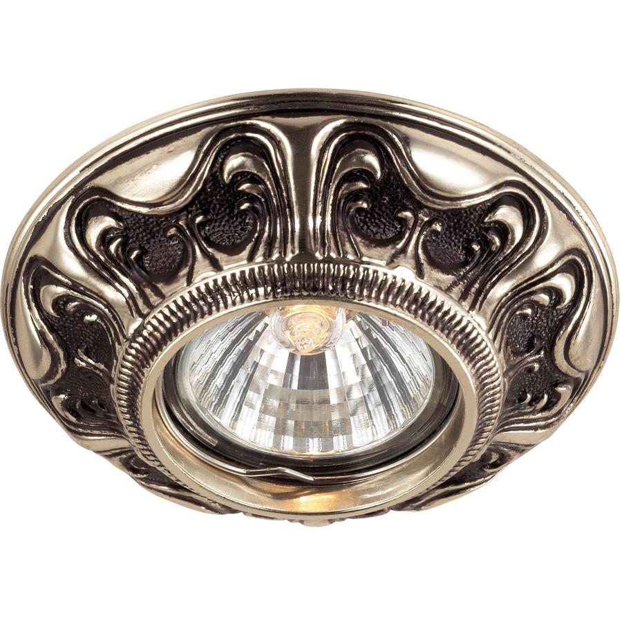 Светильник встраиваемый Novotech Vintage nt14 021 369854 встраиваемый точечный светильник novotech vintage арт 369854