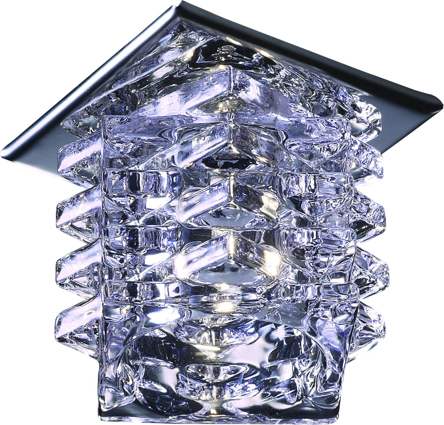 Светильник встраиваемый Novotech Crystal nt09 115 369375 встраиваемый точечный светильник коллекция crystal 369375 хром хрусталь novotech новотех