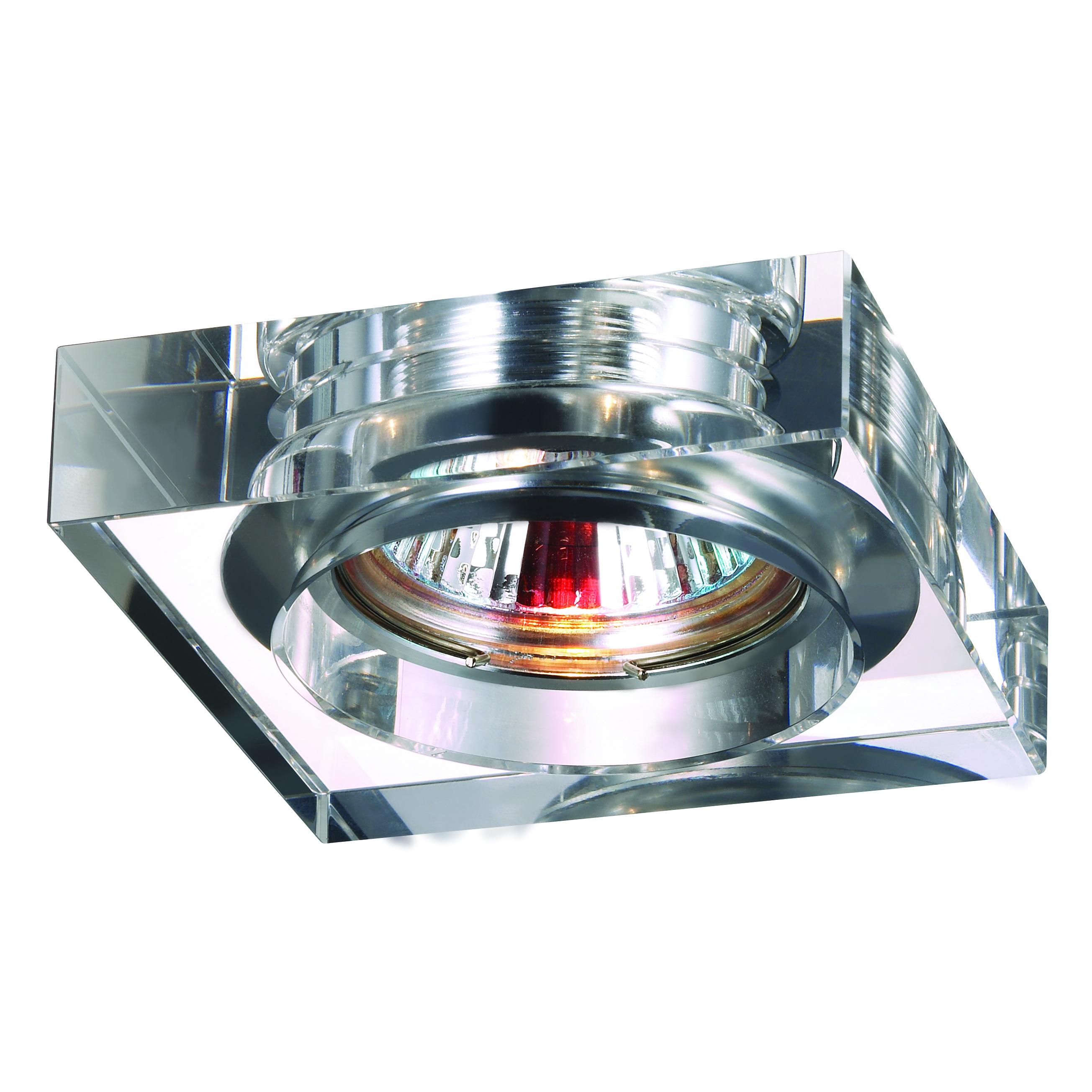 Светильник встраиваемый Novotech Glass nt09 129 369482 точечный светильник novotech 369482